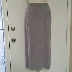 Cashmere 2-ply Maxi Skirt Gray M